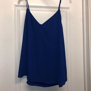 Babaton Everly Camisole V-neck blue large